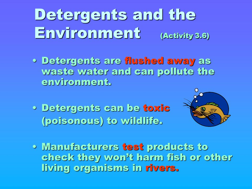 Detergents and the Environment (Activity 3.6)