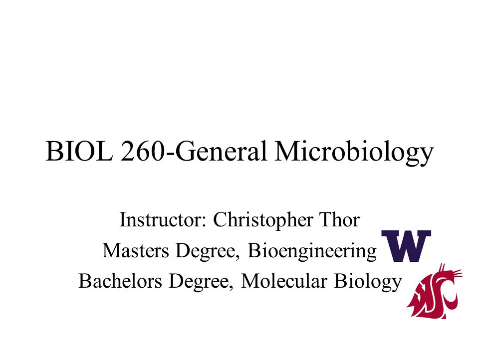 BIOL 260-General Microbiology