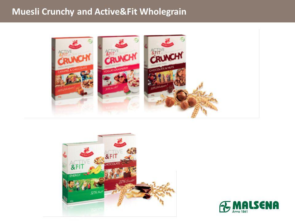 Muesli Crunchy and Active&Fit Wholegrain