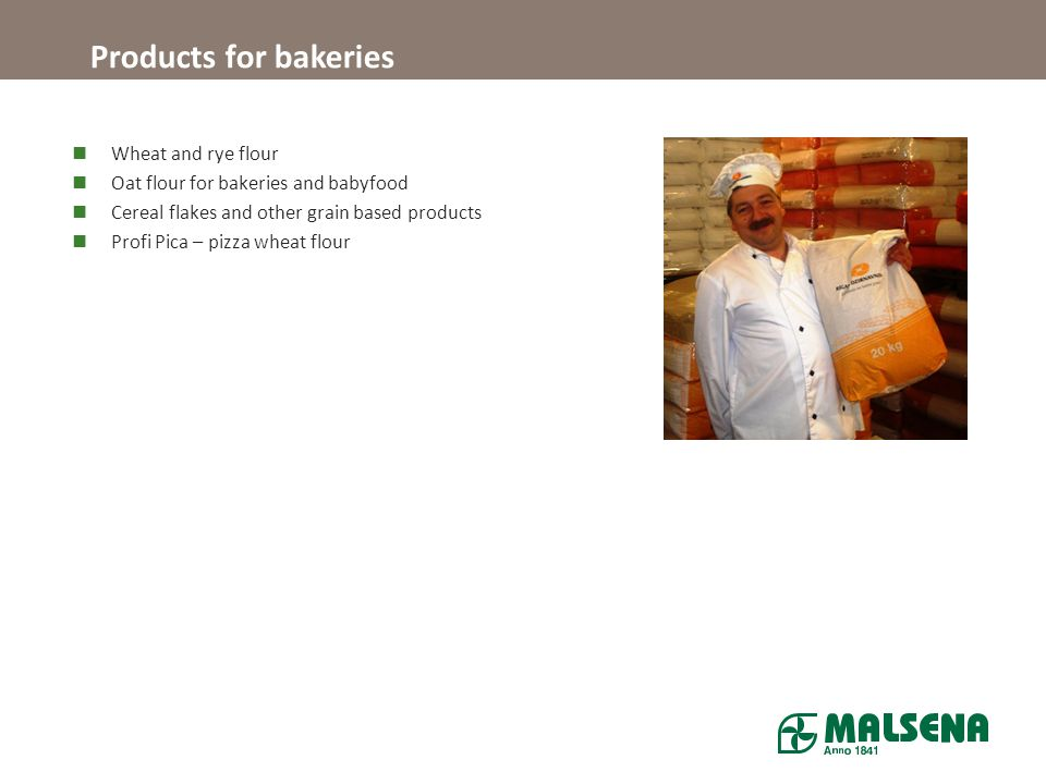 Products for bakeries Wheat and rye flour