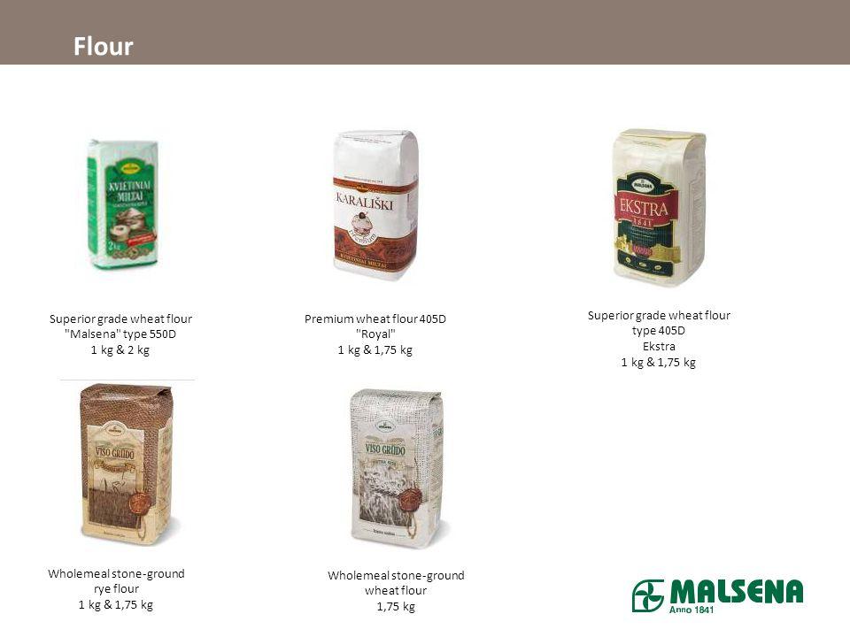 Flour Superior grade wheat flour Malsena type 550D 1 kg & 2 kg