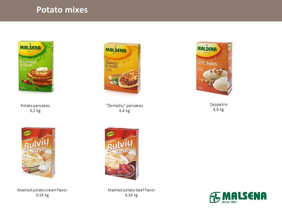 Potato mixes Potato pancakes 0,2 kg Žemaičių pancakes 0,4 kg