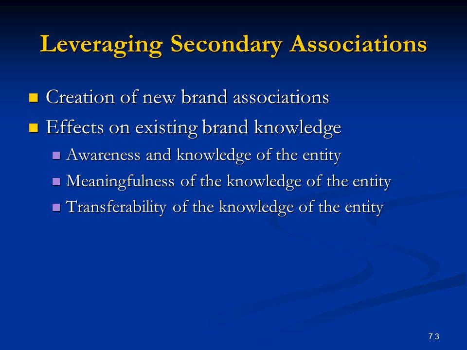 Leveraging Secondary Associations