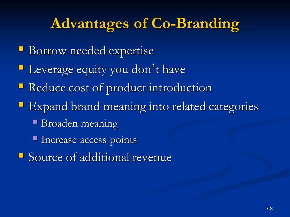Advantages of Co-Branding