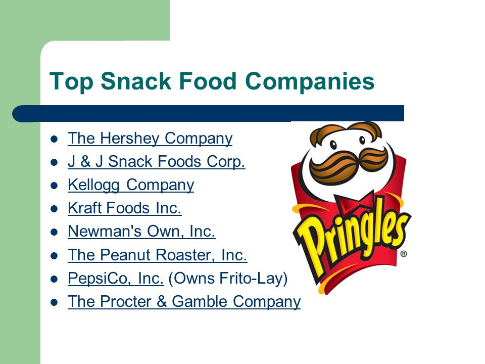 Top Snack Food Companies