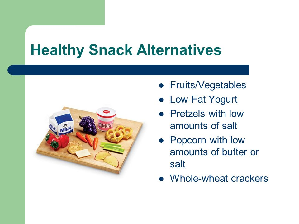 Healthy Snack Alternatives