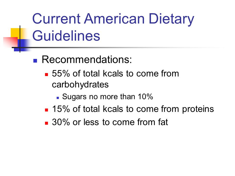Current American Dietary Guidelines