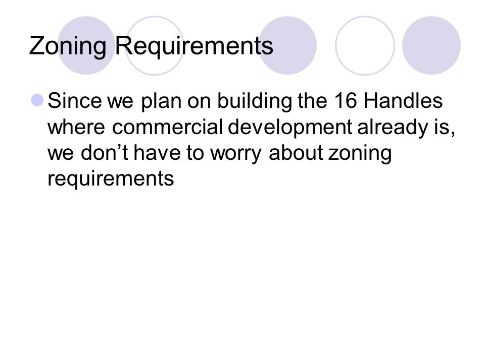 Zoning Requirements