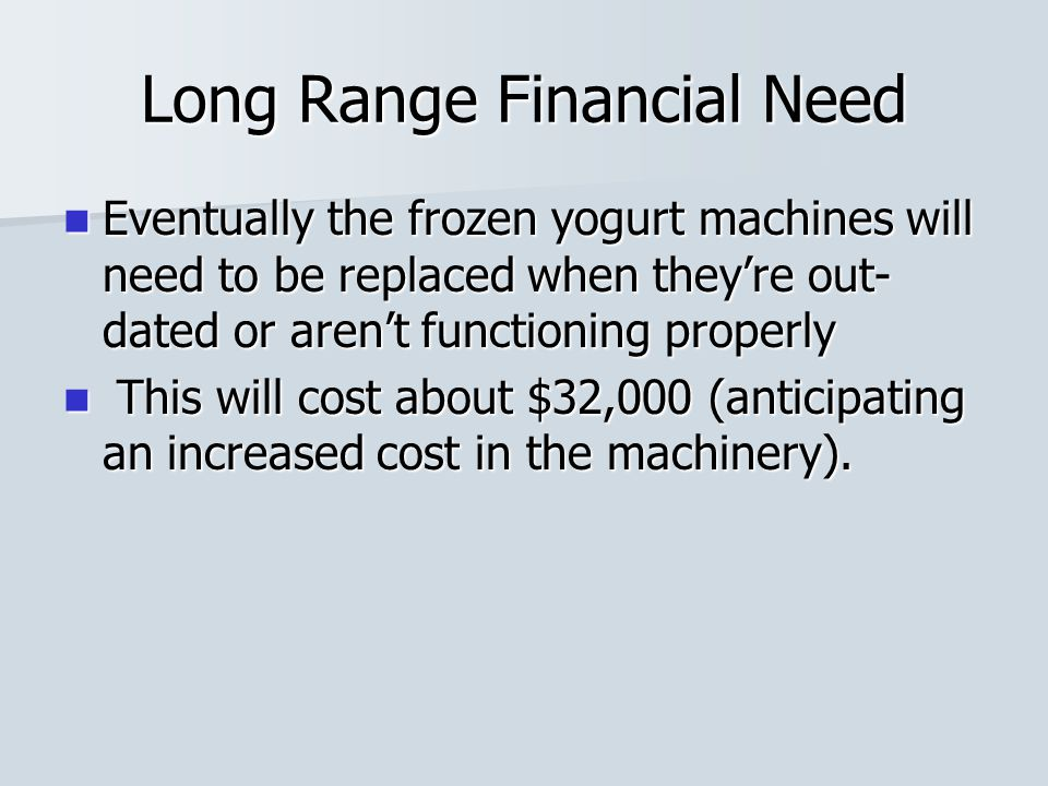 Long Range Financial Need