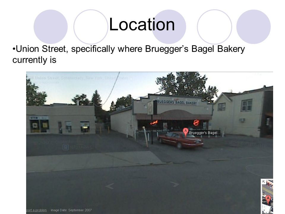 Union Street, specifically where Bruegger's Bagel Bakery currently is