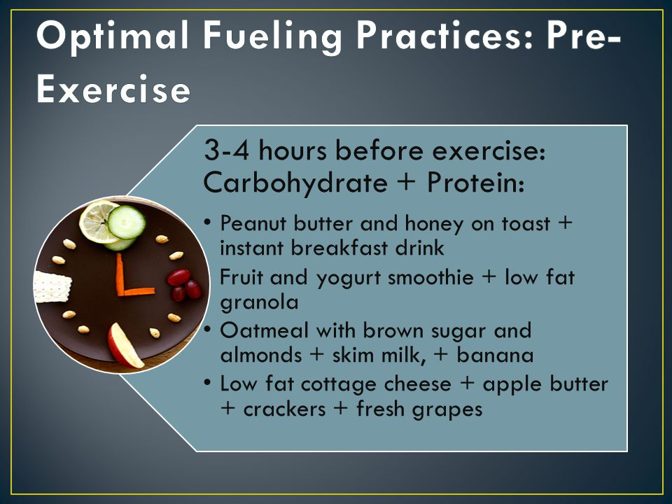 Optimal Fueling Practices: Pre- Exercise