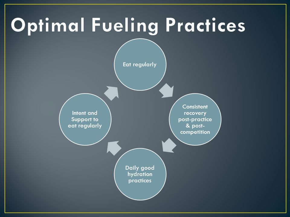 Optimal Fueling Practices