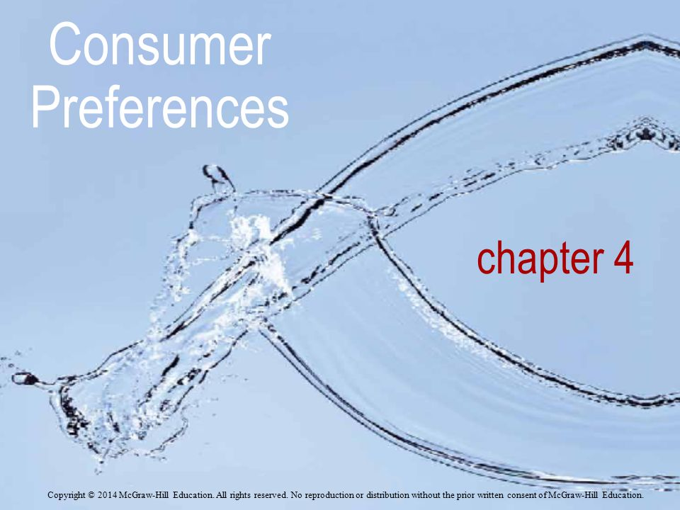 Consumer Preferences chapter 4