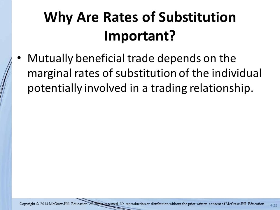 Why Are Rates of Substitution Important