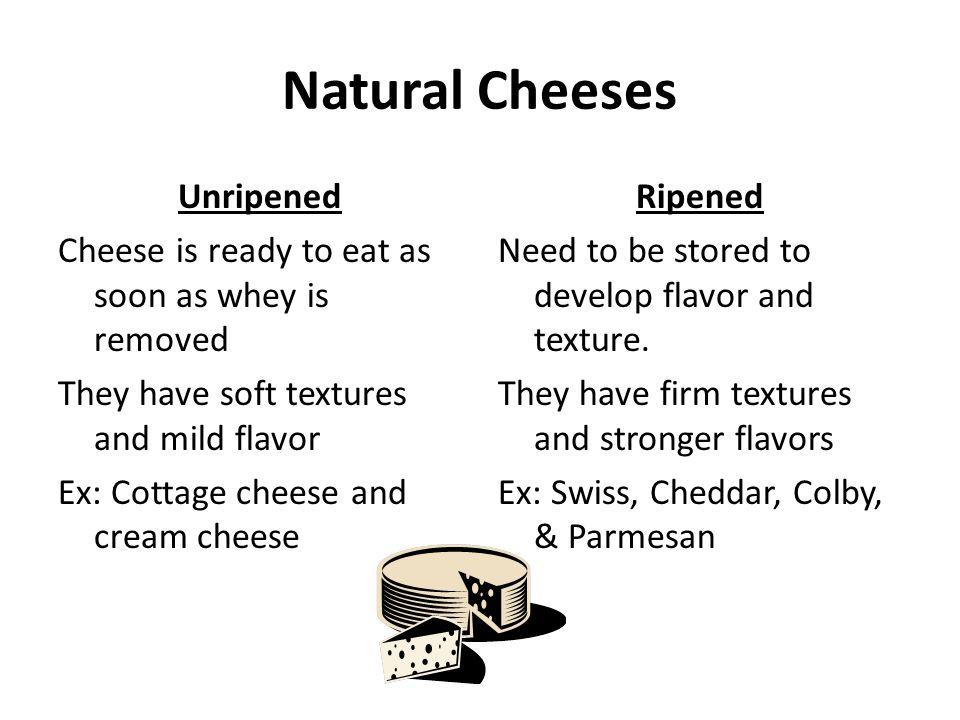 Natural Cheeses