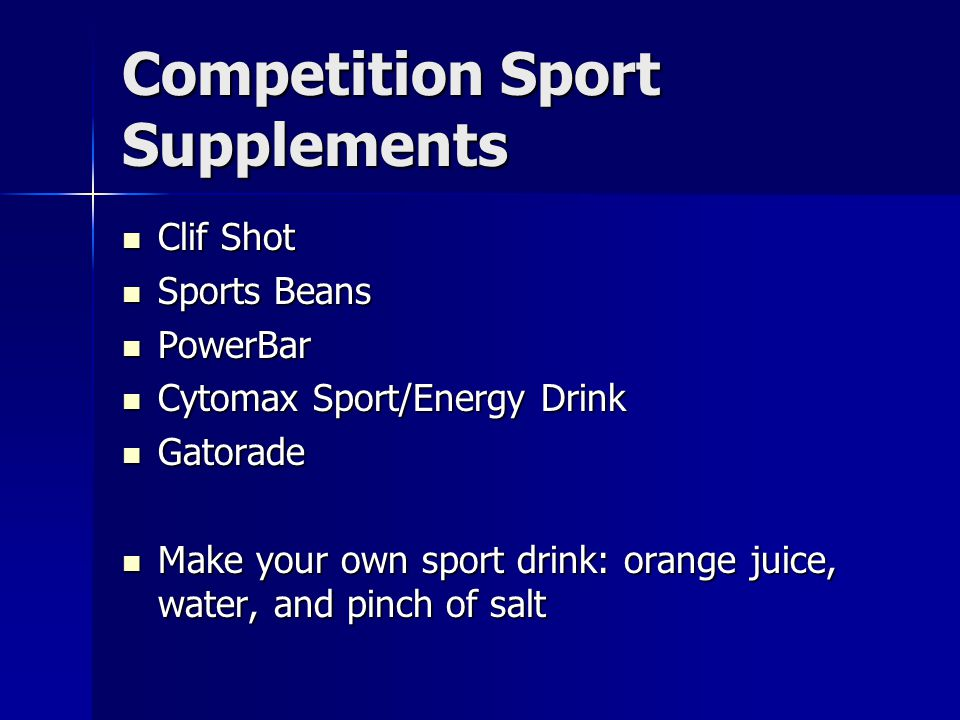Competition Sport Supplements