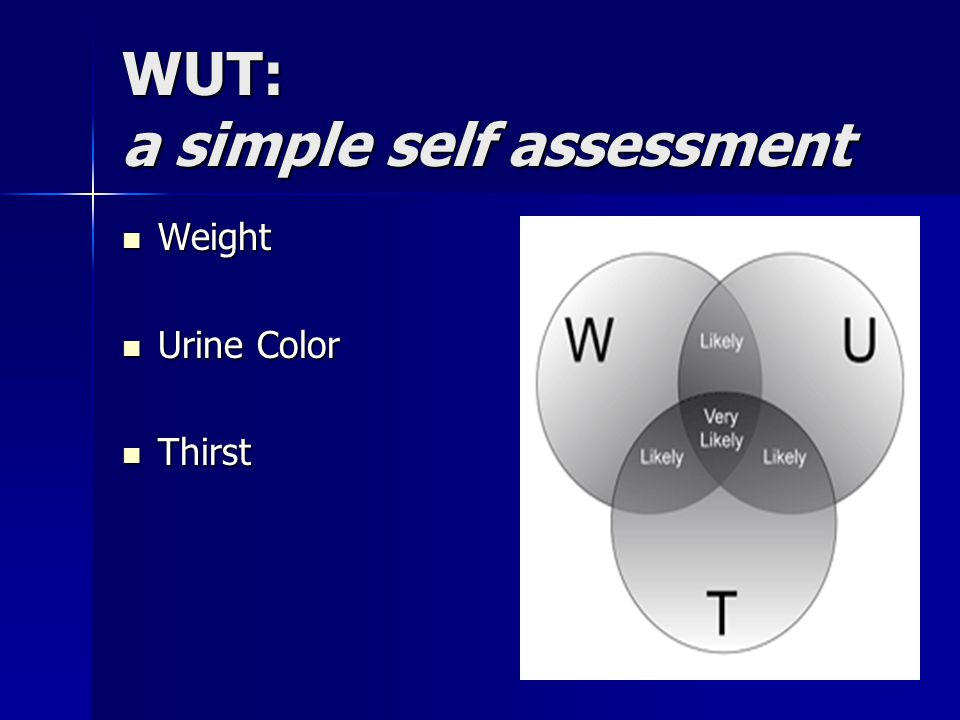 WUT: a simple self assessment