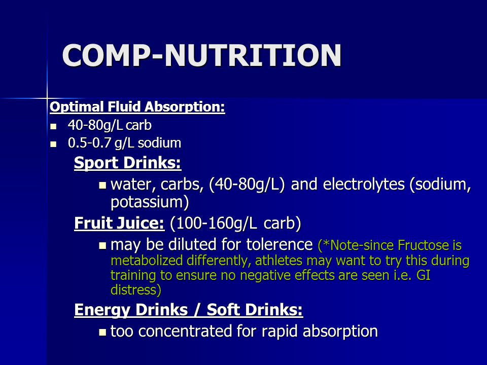 COMP-NUTRITION Sport Drinks: