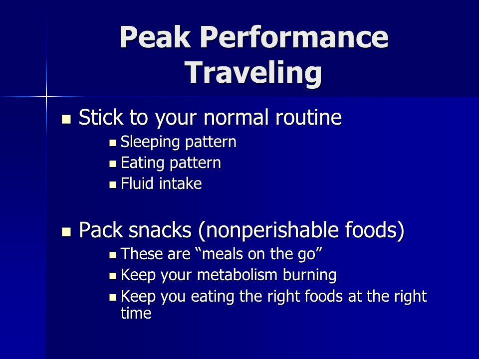 Peak Performance Traveling