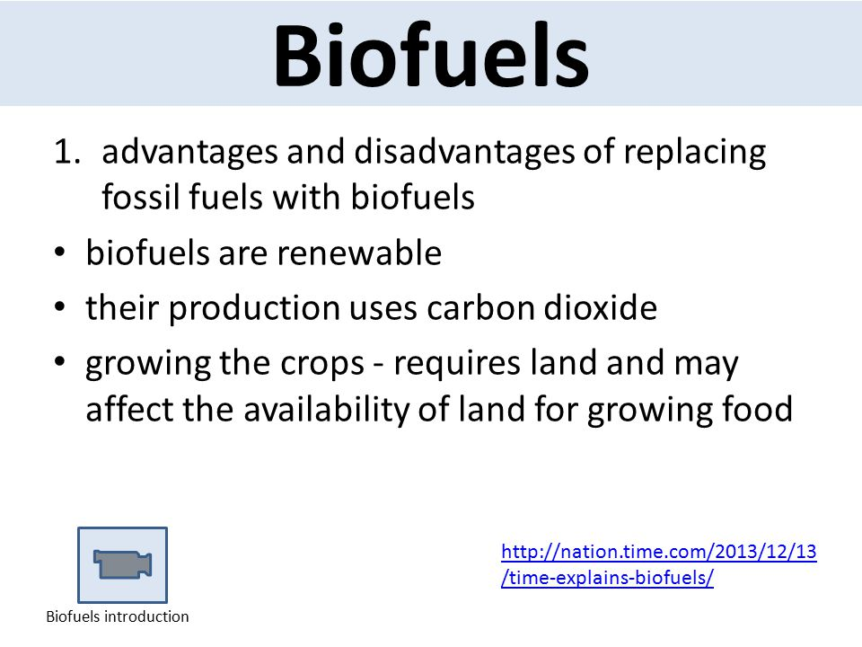 Biofuels advantages and disadvantages of replacing fossil fuels with biofuels. biofuels are renewable.