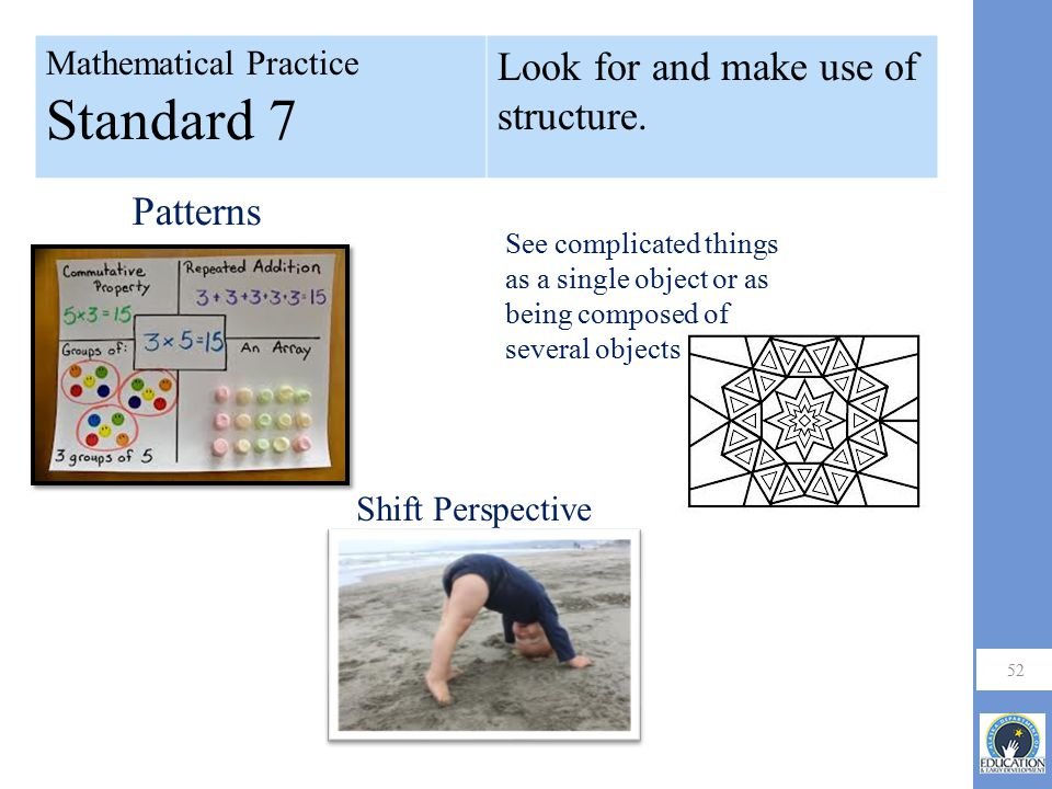 Look for and make use of structure.