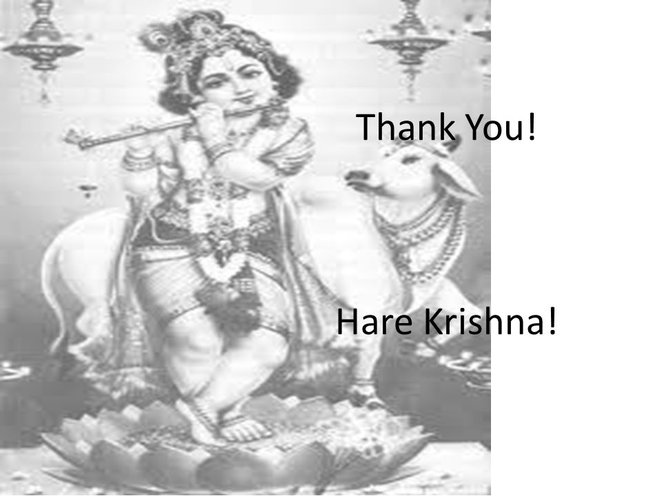 Thank You! Hare Krishna!