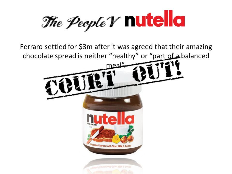 Ferraro settled for $3m after it was agreed that their amazing chocolate spread is neither healthy or part of a balanced meal .