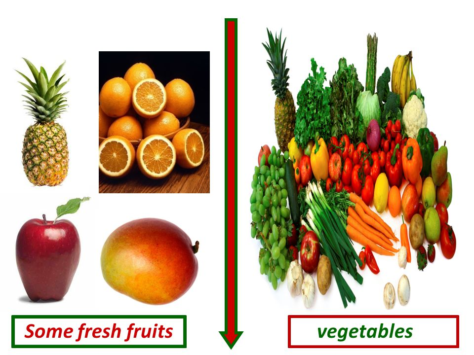 Some fresh fruits vegetables