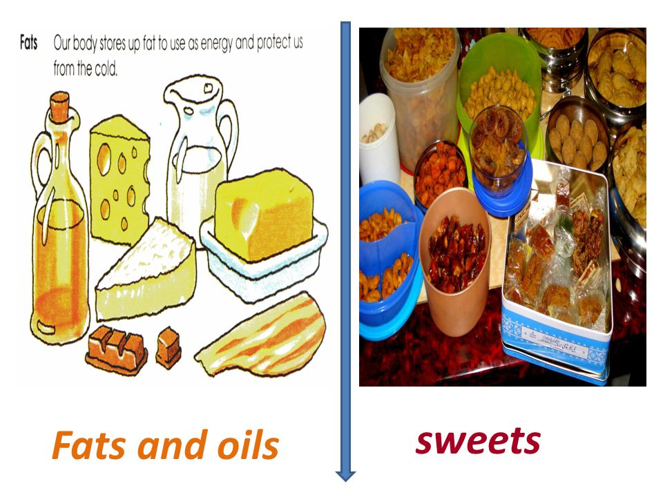 sweets Fats and oils
