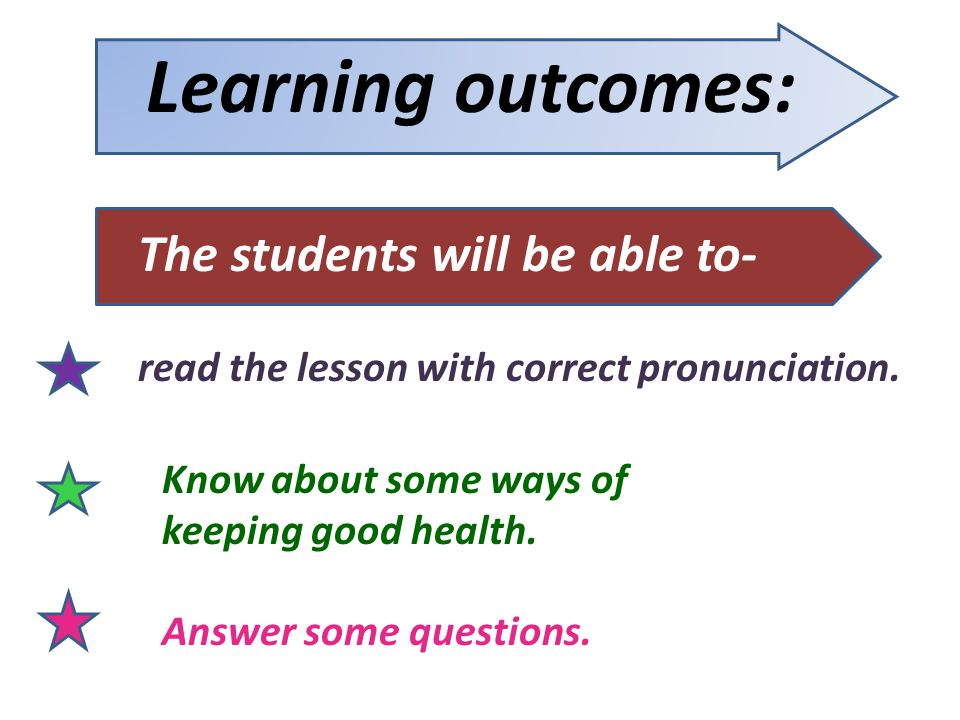 Learning outcomes: The students will be able to-
