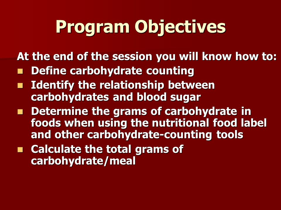 Program Objectives At the end of the session you will know how to: