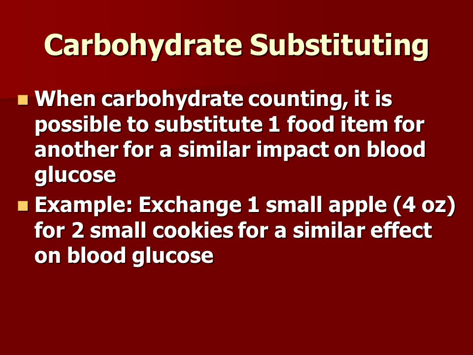 Carbohydrate Substituting