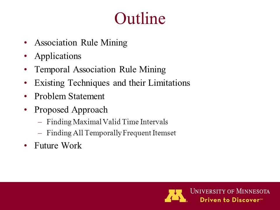 Outline Association Rule Mining Applications