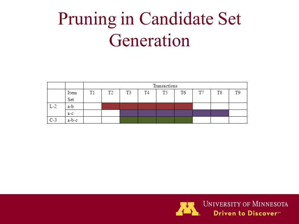 Pruning in Candidate Set Generation