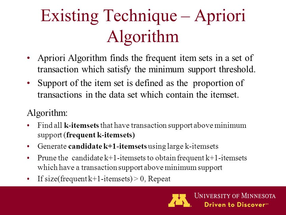 Existing Technique – Apriori Algorithm