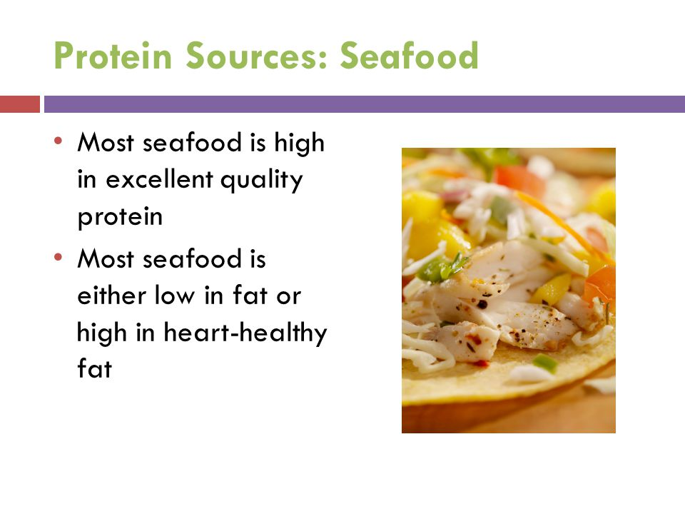 Protein Sources: Seafood