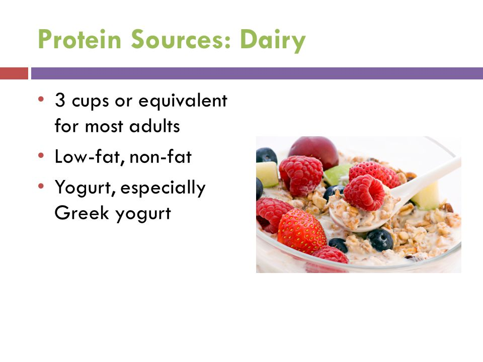 Protein Sources: Dairy