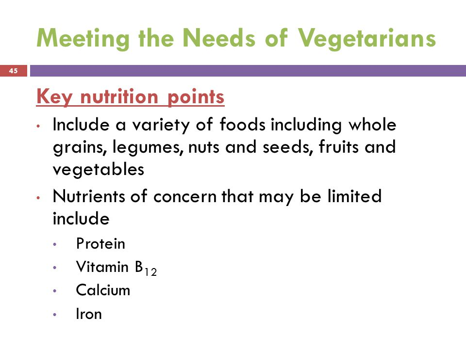 Meeting the Needs of Vegetarians
