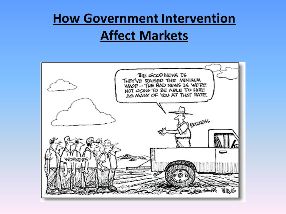 How Government Intervention Affect Markets