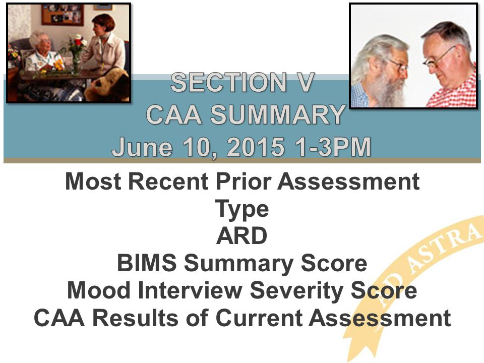 SECTION V CAA SUMMARY June 10, 2015 1-3PM
