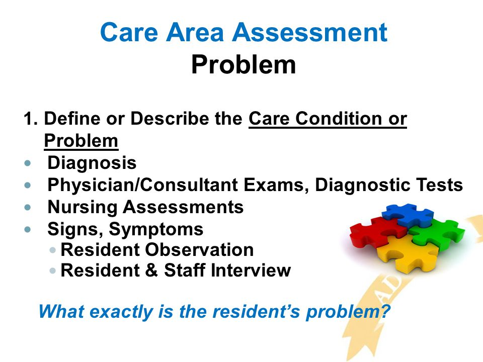Care Area Assessment Problem