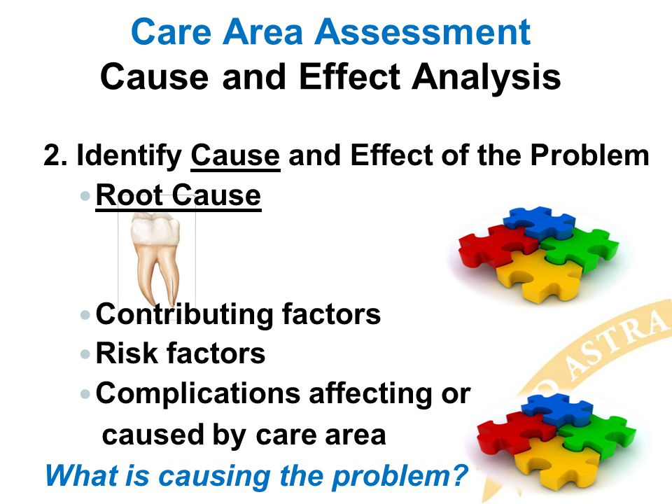 Care Area Assessment Cause and Effect Analysis