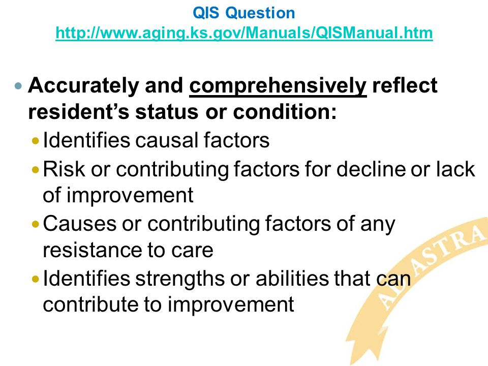 QIS Question http://www.aging.ks.gov/Manuals/QISManual.htm