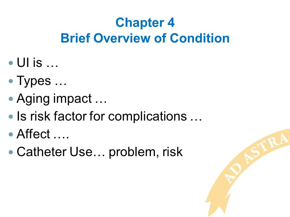 Chapter 4 Brief Overview of Condition