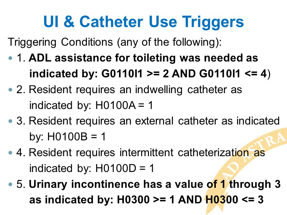 UI & Catheter Use Triggers