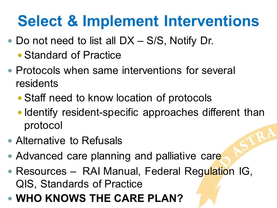 Select & Implement Interventions