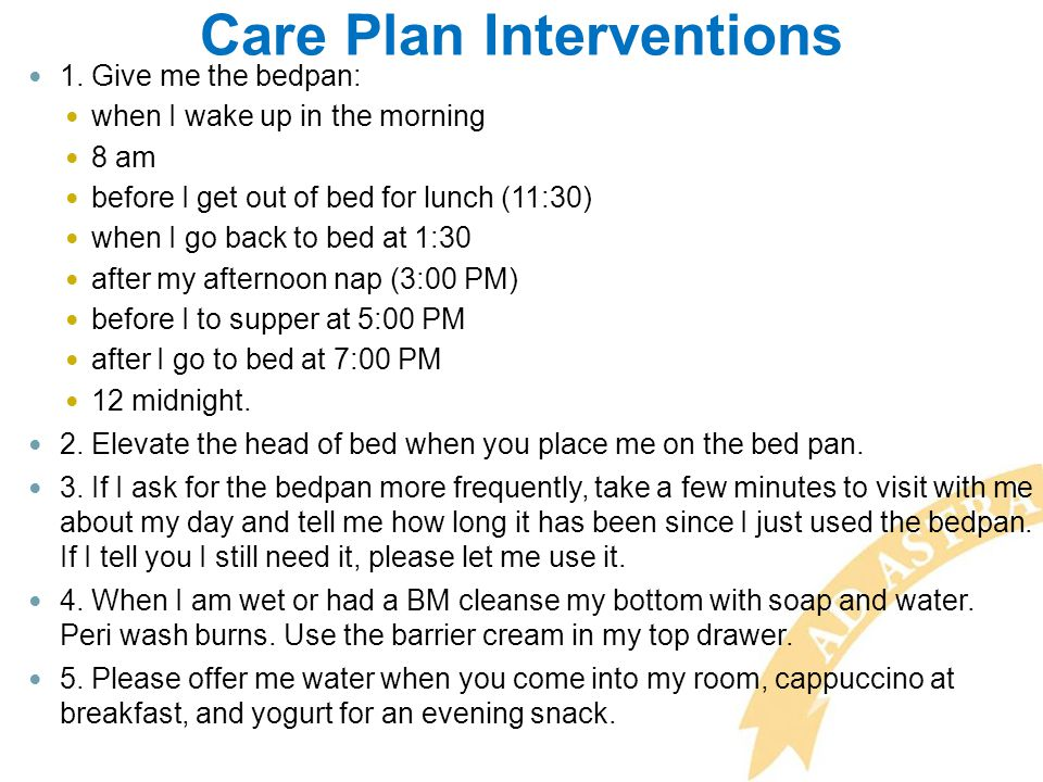 Care Plan Interventions