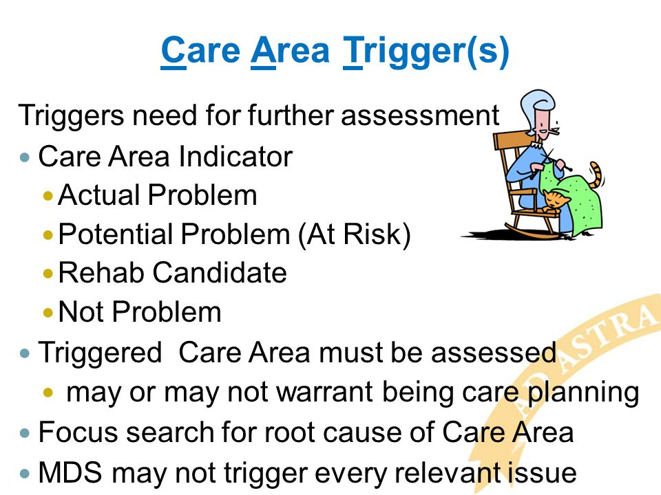 Care Area Trigger(s) Triggers need for further assessment
