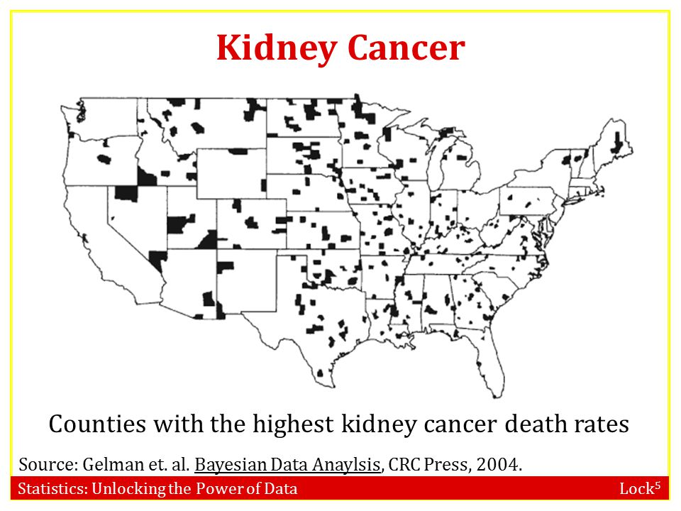 Counties with the highest kidney cancer death rates