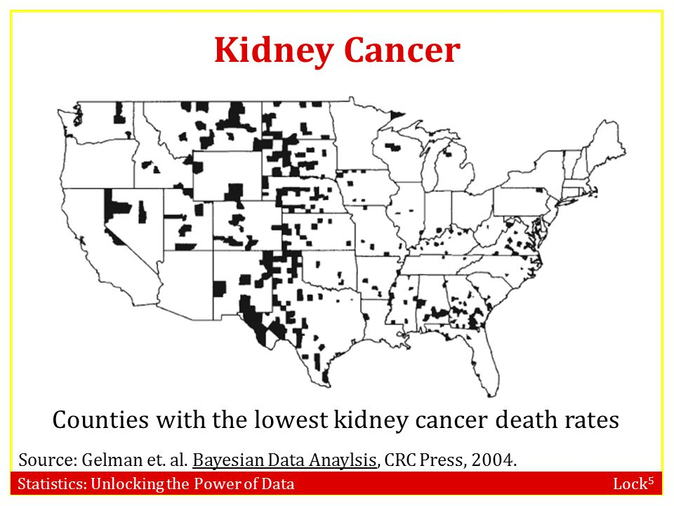 Counties with the lowest kidney cancer death rates